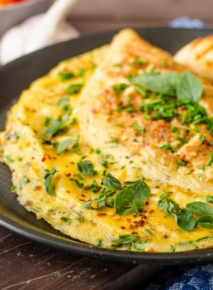 Herbs add extra flavour to your omelette.