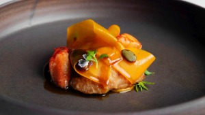Marron with sweetbreads, pumpkin and vanilla.