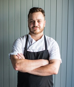 Chef Simon Evans of Caveau listens to a range of food podcasts when working in the kitchen.