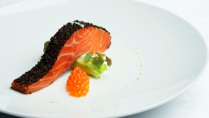 The iconic confit ocean trout.