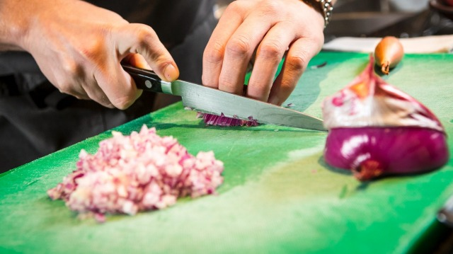 How to peel and chop an onion like a chef.