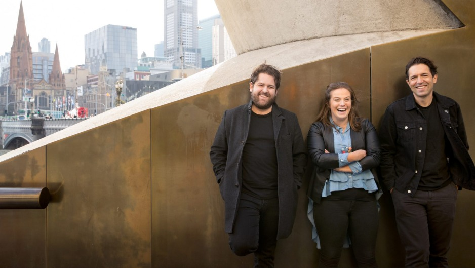 Melbourne-based previous Good Food Guide award-winners (from left) Carlo Grossi of Arlechin and Kylie Millar and Ben ...