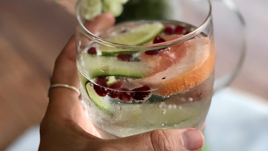 A mocktail made with Brunswick Aces gin.