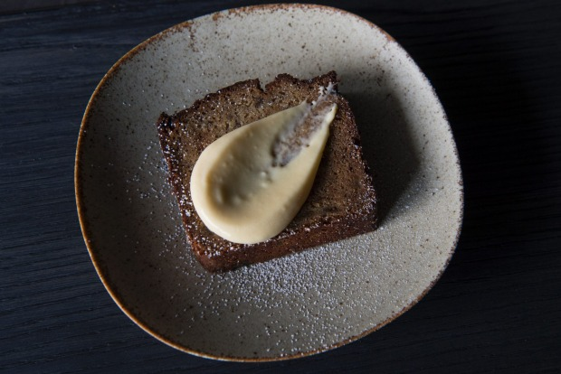 Miso banana bread with yuzu curd, Edition Haymarket, Steam Mill Lane, Haymarket.