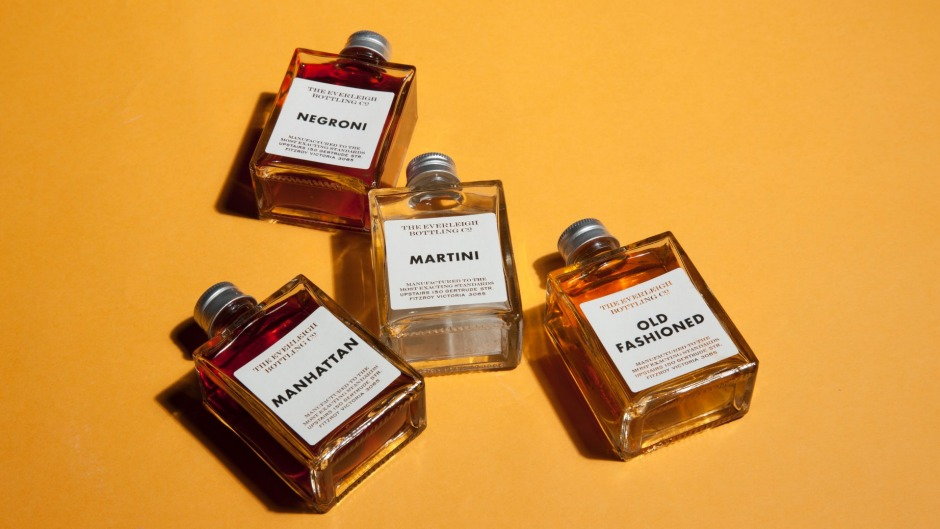 Famous four: Everleigh Bottling Co.'s classic cocktail quartet.