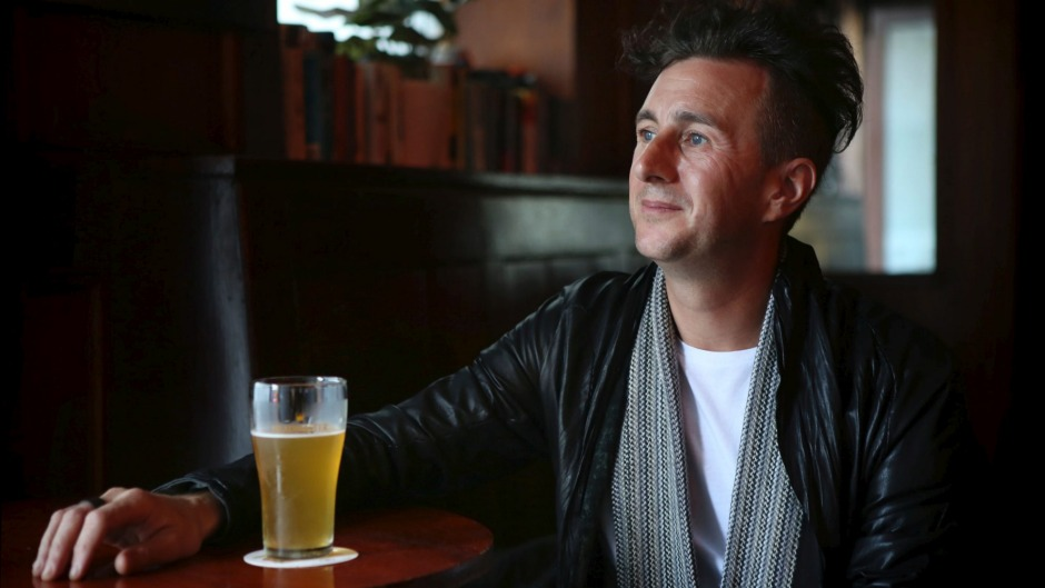 Brisbane-based Chef Ben Russell enjoying a Pale Ale at the Hollywood Hotel in Surry Hills.