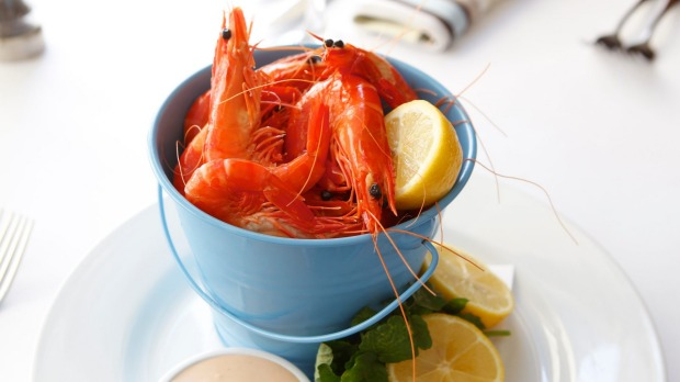 A bucket of prawns will be the rock stars of the Christmas table.