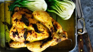 Serve this salt-roasted chicken with steamed rice.