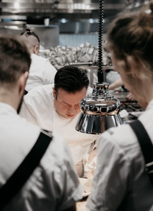 Peter Gilmore on the pass at Quay 2.0.