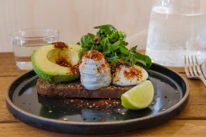 ONA's spin on avocado on toast.