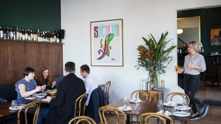 The interior of Park Street Pasta in South Melbourne.