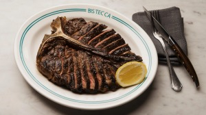 Smoky, charred and salty bistecca alla fiorentina.