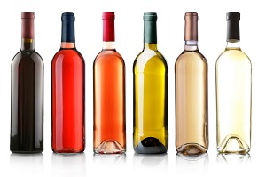 Generic wine bottles for Good Food online wine and beer review collection.
