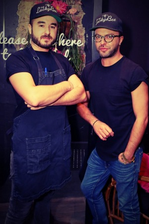 Chef Matty Bennett (left) and Rupert Noffs.