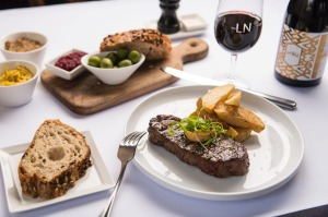 Steak frites in the Lord Nelson restaurant.