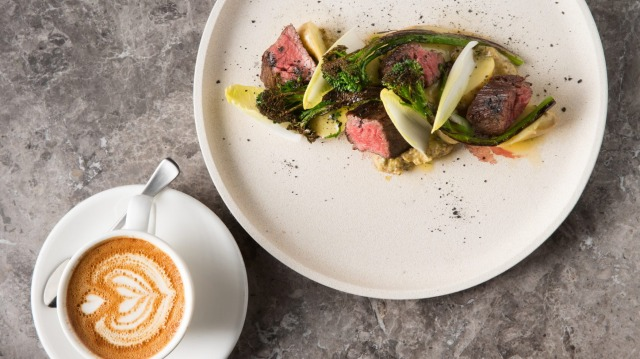 Breakfast is the new dinner: Ruby skirt steak with endive and kipflers at Higher Ground.