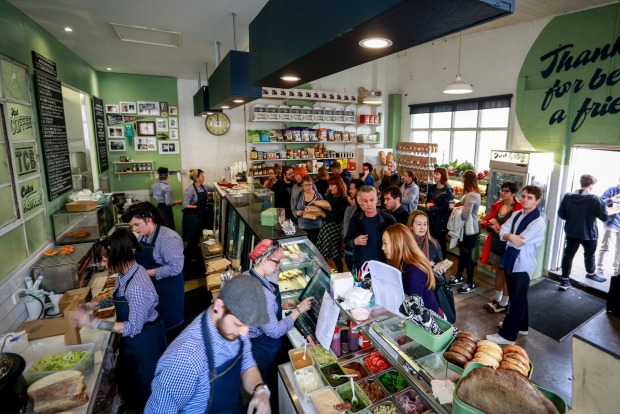 Join the queue at vegan deli-cafe Smith & Deli in Fitzroy.