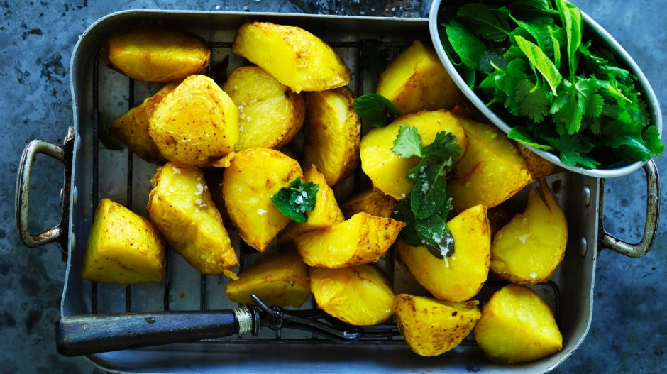 Take baked potatoes on a journey with this Middle Eastern-inspired recipe.