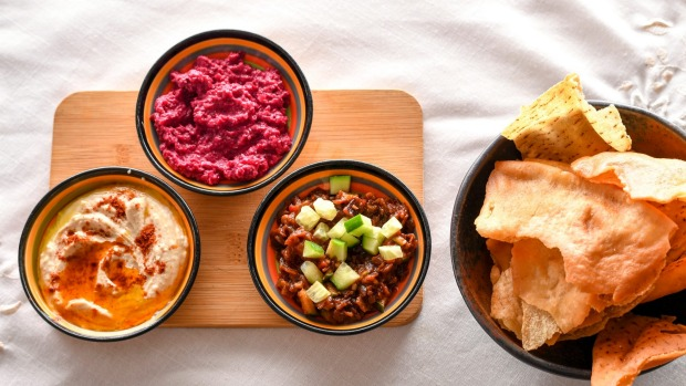 Don't miss the trio of dips with pita crisps.