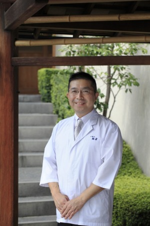 Michelin three-star chef Hideaki Matsuo outside his Osaka restaurant Kashiwaya.