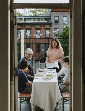 Cookbook author Hetty McKinnon with her family in her new hometown of New York.