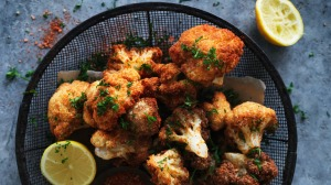 Spicy fried cauliflower.