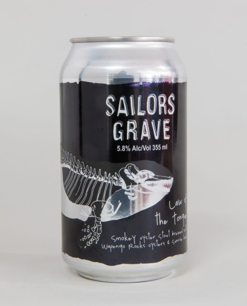 3. Sailor's Grave The Law of The Tongue Oyster Stout.
