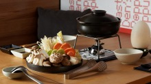 Go-to dish: Vegetable shabu shabu, ready to swish.
