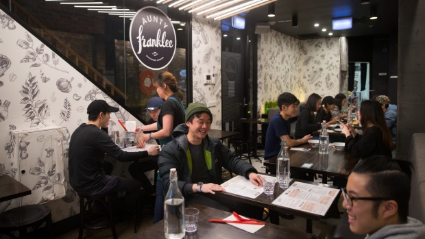 Aunty Franklee Malaysian restaurant in Melbourne CBD.