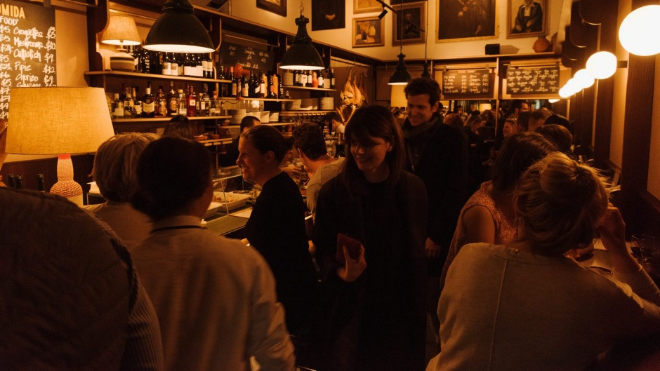 """Bar Topa: """"There's much in the way of dark timber, hanging jamon and paintings of Spanish men with beautiful moustaches."""""""