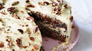 Helen Goh's burnt butter parsnip cake with white chocolate cream recipe.