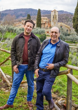 Italian job: Jamie Oliver with long-time collaborator Gennaro Contaldo.