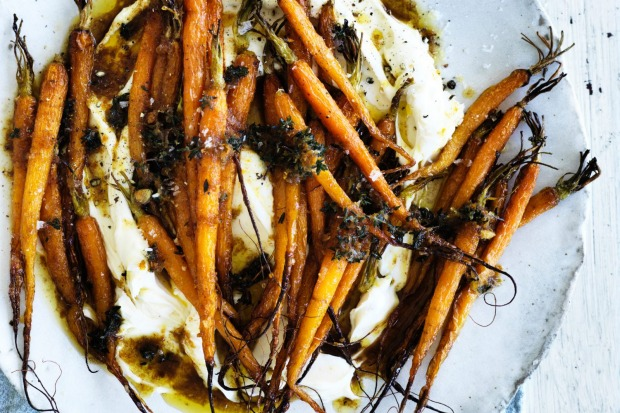 Danielle Alvarez's brown butter and citrus roasted carrots is an autumnal side dish <a ...