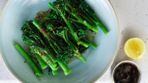 Broccolini with brown butter and soy.