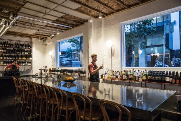Poly is a new subterranean walk-in wine bar in Surry Hills Paramount House Hotel complex.