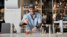Mixing rum-based cocktails at Brix Distillery in Surry Hills.