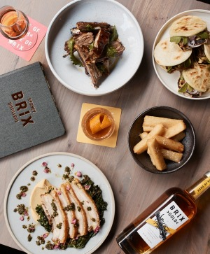 Tacos, rum, pork, chips and rib from the new Brix distillery in Surry Hills.