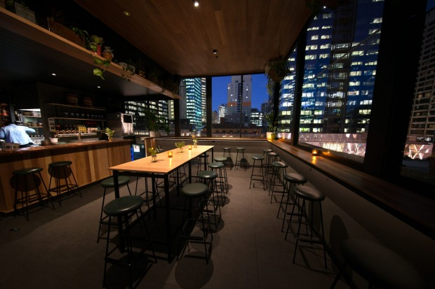 Bomba's renovated rooftop bar.
