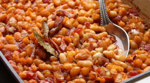 Homestyle Beans With Smoky Bacon And Maple Syrup Recipe Good Food