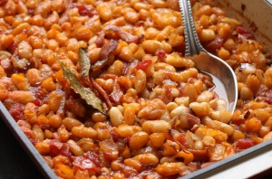Smoky slow-cooked beans.