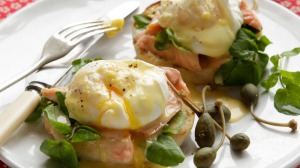 Smoked trout, poached egg and hollandaise.