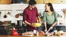 It's not always sunny in the kitchen: Cooking with your partner can be a recipe for disaster.