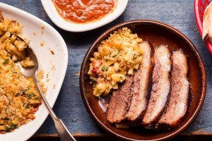 Frank Camorra's barbecued beef brisket with macaroni cheese recipe.