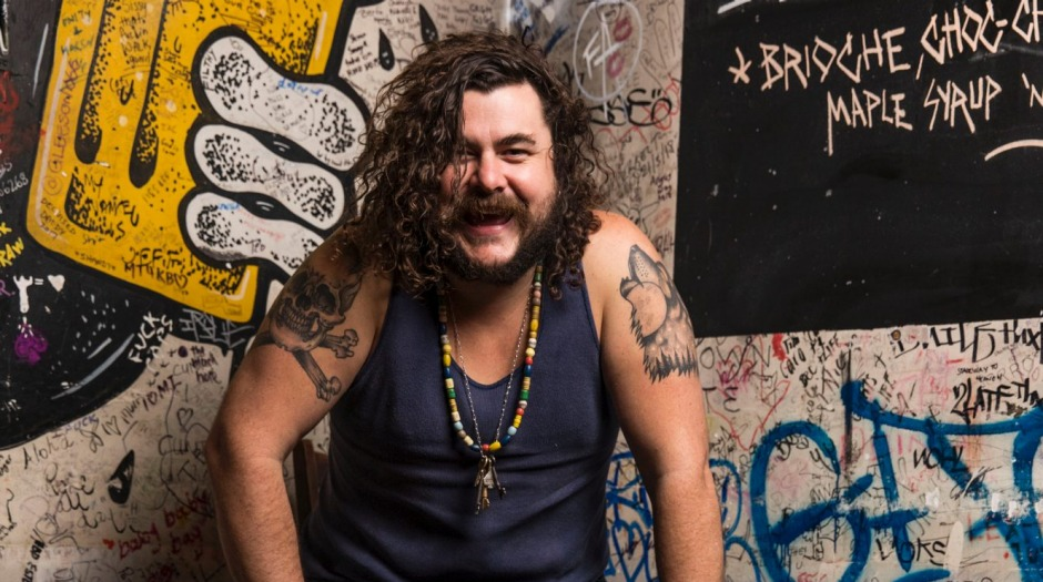 Ministry of the burger: Mary's owner Jake Smyth in Newtown.