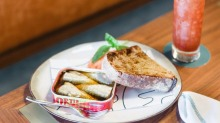 Finally ready to be served: Ortiz sardines at the Manly Greenhouse.