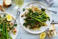 Neil Perry's asparagus with spiced eggplant salad