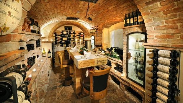 The cellar at Hospiz Alm Restaurant holds a world-class wine collection.