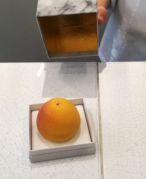 Cedric Grolet's 'grapefruit' is packaged like an iPhone.