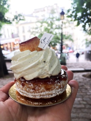Saint Honore cake from Giles Marchal in Paris.