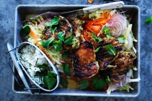 Indonesian-style bbq chicken.
